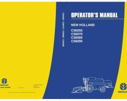 Operator's Manual for New Holland Combine model CS6050
