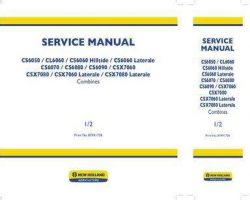 Service Manual for New Holland Combine model CS6050