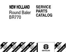 Parts Catalog for New Holland Balers model BR770
