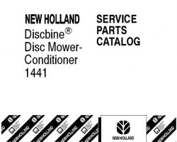 Parts Catalog for New Holland Combine model 1441