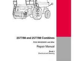 Service Manual for Case IH Combine model 2377
