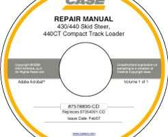 Service Manual on CD for Case IH Skid steers / compact track loaders model 440