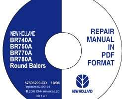 Service Manual on CD for New Holland Balers model BR750A