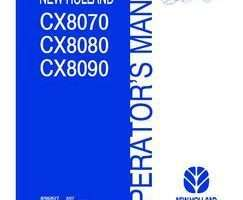 Operator's Manual for New Holland Combine model CX8080