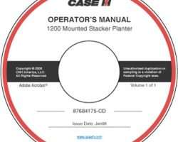 Operator's Manual on CD for Case IH Planter model 1200