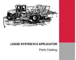 Parts Catalog for Case IH Sprayers model 610