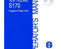 Operator's Manual for New Holland Engines model S170