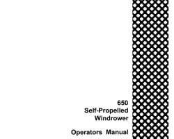 Operator's Manual for Case IH Windrower model 650