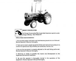 Operator's Manual for Case IH Tractors model 433