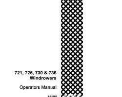 Operator's Manual for Case IH Windrower model 730