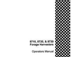 Operator's Manual for Case IH Harvester model 8720