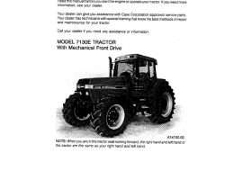 Operator's Manual for Case IH Tractors model 7130