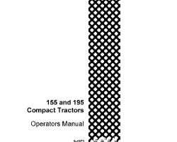 Operator's Manual for Case IH Tractors model 155