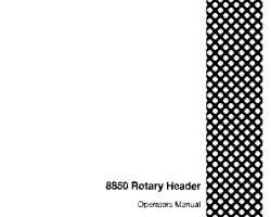 Operator's Manual for Case IH Headers model 8850