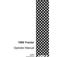 Operator's Manual for Case IH Tractors model 1090