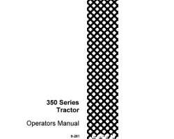 Operator's Manual for Case IH Tractors model 350