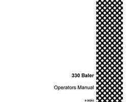 Operator's Manual for Case IH Balers model 330T