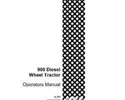 Operator's Manual for Case IH Tractors model 900