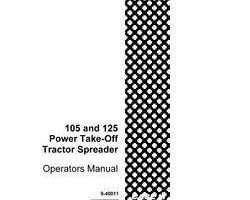 Operator's Manual for Case IH Tractors model 125