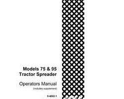 Operator's Manual for Case IH Tractors model 95