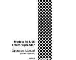 Operator's Manual for Case IH Tractors model 75