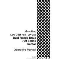 Operator's Manual for Case IH Tractors model 700