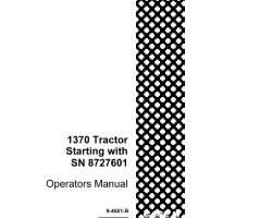 Operator's Manual for Case IH Tractors model 1370