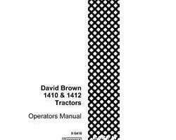 Operator's Manual for Case IH Tractors model 1412