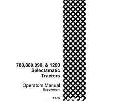 Operator's Manual for Case IH Tractors model 880