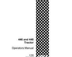 Operator's Manual for Case IH Tractors model 446