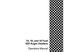 Operator's Manual for Case IH Headers model 625