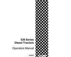 Operator's Manual for Case IH Tractors model 540