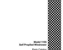 Parts Catalog for Case IH Windrower model 1155