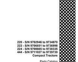 Parts Catalog for Case IH Tractors model 220