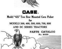 Parts Catalog for Case IH Tractors model 425
