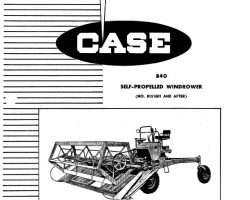 Parts Catalog for Case IH Windrower model 840