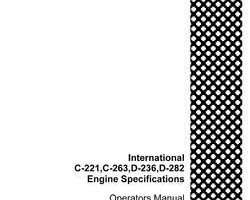 Service Manual for Case IH TRACTORS model 340