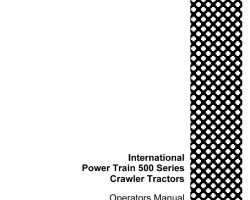 Service Manual for Case IH Tractors model 500