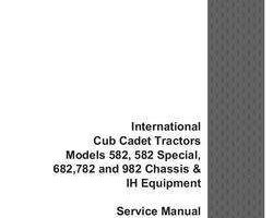 Service Manual for Case IH Tractors model 782