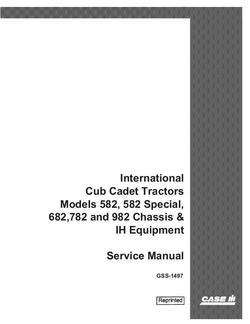 Service Manual for Case IH Tractors model 582