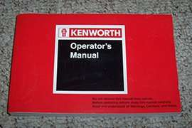 1996 Kenworth T600 Truck Owner's Manual