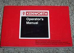1985 Kenworth T600A Truck Owner's Manual