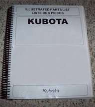 Master Parts Manual for Kubota Mower model FZ2100 Mower