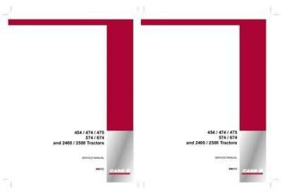 Service Manual for Case IH Tractors model 2400