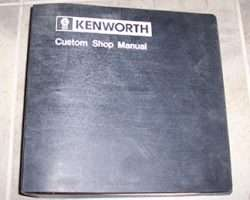 1989 Kenworth W900 Truck Service Repair Manual