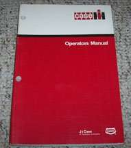 Operator's Manual for Case IH Tractors model 21256