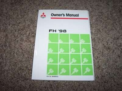 1998 Mitsubishi Fuso FH Owner's Manual
