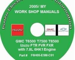 2005 Chevrolet T7500 T-Series Truck Service Manual CD