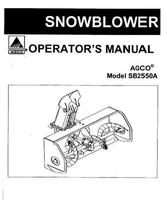 AGCO 4263730M1 Operator Manual - SB2550A Snowblower