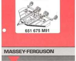 Massey Ferguson 651675M91 Parts Book - 2150 / 2154 Rotary Cutter